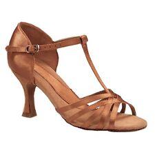 """Capezio Ashley: 2.5"""" Tan Satin Competitive Ballroom Dance Shoe Non Returnable"""