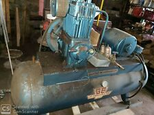Quincy GE compressor - 100+ gal tank, 5HP 3 phase motor WORKING