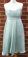 DEBENHAMS Debut Ladies Strapless Pale Green Polyester Knee Length Dress UK 10