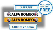 Alfa Romeo Number Plate Cover Stickers Car Dealer Sales 140mm x 18mm Vinyl