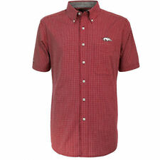 Men's Antigua University of Arkansas Razorbacks Logo Short Sleeve Shirt, L