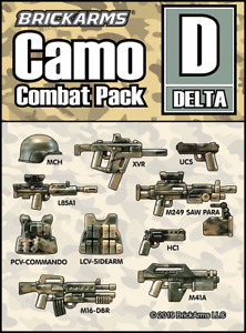 BrickArms CAMO Combat PACK D Weapon Pack for Minifigures NEW Combat Military