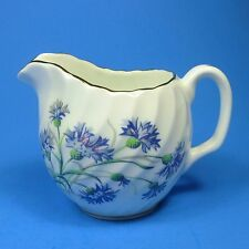 Adderley Bone China Creamer Blue Flowers Royal Imperial Swirl England
