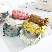 Korean Pleated Headband Satin Bezel Women Wide Size Hairbands Fashion Hair Hoop