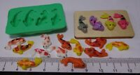 1:12 Scale 4 Koicarp Silicon Rubber Mold B Dolls House Miniature Fish Acc