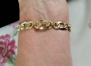 Vintage 50er Jahre orig. Armband in Gold Double + 17,5 cm