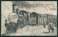 Como Città Saluti a Grande Velocità ABRASA Treno cartolina EE6395