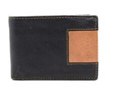 Stefano Mens Leather Wallet Bifold Black Brown