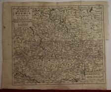 CZECH REPUBLIC & POLAND 1740 ISAAK TIRION ANTIQUE ORIGINAL COPPER ENGRAVED MAP