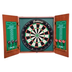 Franklin Pro Strike Bristle Dartboard with Cabinet, Sport, Spiel, Freizeit, Dart