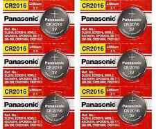 Brand New 6 Pcs Panasonic CR2016 ECR 2016 CR 2016 3V Lithium Batteries