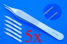 5 chirurgische Pinzetten nach Adson 1x2 Zähne ca. 15 cm, Top Qualität