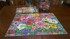 Buffalo Games Vivid Collection Stained Glass Bouquet Flower jigsaw puzzle 1000