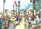 Father Serra Protest Ventura :  Signed LE Art Print : Sandra Watercolors™