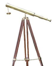 Nautical Home Decor Master Harbor Gift   Floor Standing Vintage Brass Telescope