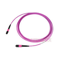 5m MPO Female 8 Fibers Type A LSZH OM4 50/125 Multimode Trunk Cable Patch Cord