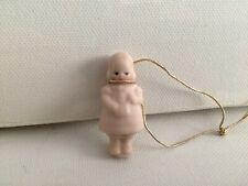 Miniature 1 3/8 Inch Bisque Girl Figurine Marked Suzy's