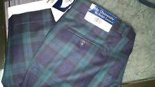 POLO UNIVERSITY Ralph Lauren Mens blackwatch plaid cuffed Wool Dress Pants 36x30