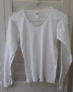 Secret Treasures Girls Long Sleeve Top and Pant 2 Piece Pajama White Sz.M Petit