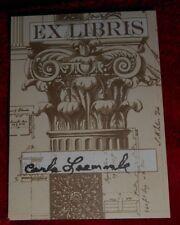 "Carla Laemmle ""Dracula"" ""'Phantom of the Opera"" Signed/Autographed Bookplate"