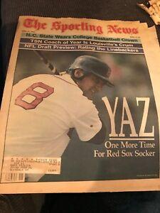THE SPORTING NEWS APRIL11,1983 CARL YASTRZEMSKI FAREWELL BOSTON RED SOX Yaz