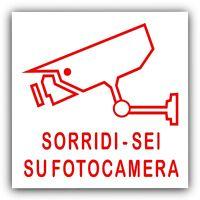 6 x Sorridi - Sei Su Fotocamera-CCTV-Etichette-Casa-Premesse-Cartello