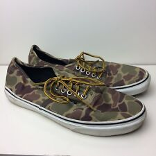76221ba9de VANS Green   Brown Camouflage Low-Top Sneakers Shoes Size Men s 10