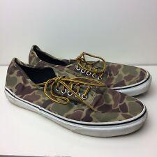 4c5345d09454f0 VANS Green   Brown Camouflage Low-Top Sneakers Shoes Size Men s 10