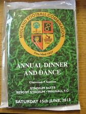 15/06/2013 At Walsall: Midland Football Combination Dinner And Dance Programme/M