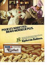 PUBLICITE ADVERTISING 054  1979  KIPFERL  de BAHLSEN   biscuits  MONSIEUR PLUS