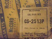 NOS McCord Gasket Oil Pan Set Chevrolet Corvair 6 1960 1961 CS-2513P