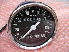 60-7222 VEGLIA type SPEEDOMETER MPH TRIUMPH T140 T160+ampoule+SUPPORT UK Spec