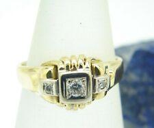 Vintage Diamant Ring 585 Gold Gr 57 Bicolor Brillant Goldring