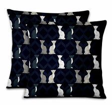 S4Sassy Quaterfoil Cat Decorative Throw Square Pillow Case Cushion Cover 2Pc