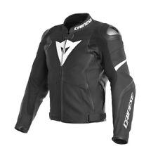 giubbotto pelle racing sportivo moto Dainese Avro 4 nero bianco leather jacket