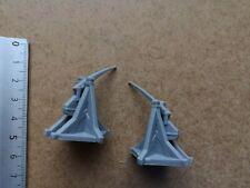 2 x white heavy infantries//miniatures parts medioevo universale g52