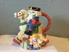 WORLD BAZAARS INC.CHRISTMAS NUTCRACKER ON ROCKING HORSE TEA/COFFEE POT