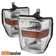 Fit 2008-2010 SUPER DUTY F-250/350/450/550 CRYSTAL HEADLIGHTS AMBER SIGNAL 08-10