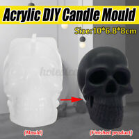 Skull Shape Silicone Candle Mould Aroma Candle Gypsum Mold for DIY Soap