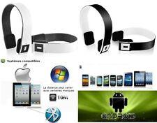 CASQUE AUDIO ECOUTEUR MICRO MICROPHONE BLUETOOTH SANS FIL PC MAC SMARTPHONE