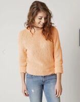 Free People Electric City Knit Sweater Women's Orange Size Small