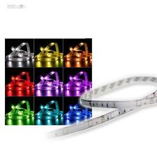 RGB LED Tira Iluminación 1m 30 Smd Leds Strip IP44 12v Banda Multicolor
