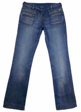Diesel Cotton Indigo, Dark wash Low Rise Jeans for Women