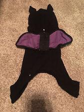 NEW MARTHA STEWART DOG COSTUME BLACK AND PURPLE BAT S SMALL