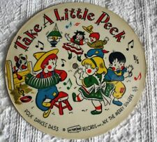 VINTAGE 33 1/3 RPM CARDBOARD RECORD -1955 - TAKE A LITTLE PEEK, KERRY DANCE
