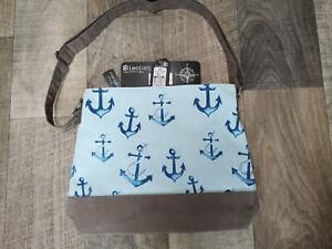 Leoberg Shoulder Bag Nautical Anchor Blue Küstentasche
