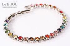 Le Bijou Swarovski Elements Ladies Tennis Bracelet Multicolour 19-21, 5 cm long