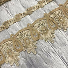 1 Yard Embroidered Trim Mesh Lace Ribbon Diy Home Sofa Curtain Sewing Fabric
