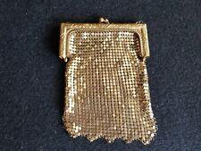 AntiqueGolden Art Nouveau Mesh Bag  Coin Chatelaine Purse Cigarette