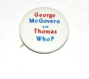 1972 ANTI GEORGE MCGOVERN THOMAS EAGLETON pinback button political presidential
